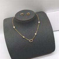 Frauen Luxurys Designer Schmuck Mode Diamant Perle Halskette Damen Liebe Armband Womens Gold Ohrstecker Hochzeit Ornamente Persönlichkeit