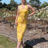 Simplee Urlaub Feste Mantel Party Kleid Frauen Slim Hater Sleeveless Boho Sommerkleid Neue Trend Sexy Bodyconkleider Dame 210413