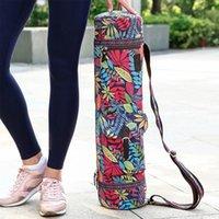 Deportes de yoga Mat Bolsa de asas 71cm Completa cremallera multifunción Impreso Impreso Pocket Carrier de aptivos Mochila Gran capacidad de almacenamiento