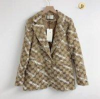 2 colores Casual All-Match Cock Blazer Suit Chaqueta de señora y otoño 825
