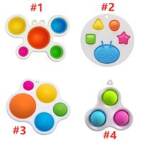 Newest Styles favors Baby Sensory Simple Dimple Toys Gifts Adult Child Funny Anti-stress Pop It Stress Reliver Push Bubble Fidget Toy