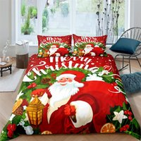 Bedding Sets High Quality Christmas Santa Claus Printed Set For Kids Baby Children Blanket Quilt Cover Bed Home Textile Suit
