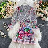 Traje Para Mujer Francesa، Camisa Belleza Fresca A La Moda، كولا بيز، Falda dos Piezas، Novedad Otoo de 2021nl59