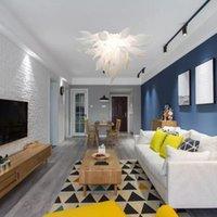 Люстры Girban Murano взорванные стекло роскошные эль-люстрой в гостиной крытый освещение освещения современного светодиода