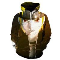 Popüler erkek ve kadın kazak 3D baskı japon anime naruto gevşek hoodie uzun kollu kazak