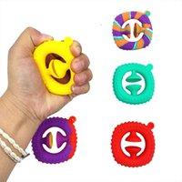 Decompression toy grip soft concave-convex silicone suction cupgrip manufacturers adult children simple dimple finger rehabilitation training