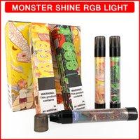 RGB flash monouso vape mostro lucentezza sigarette elettroniche 3.0ml cartuccia liquida 800 sbuffi 550 mAh batteria per vapori di vapori e cigs ecigs ecigarette