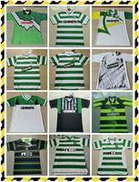 Celtic Retro Soccer Jerseys 1980 1995 1997 1998 1999 Camicie da calcio Larsson Classic Vintage Black Sutton 2005 2006 Kit di calcio Top