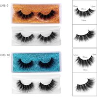 Reusable Handmade 3D Fake Eyelashes Light Soft & Vivid Thick Natural Multi-layer Mink False Lashes Extensions Makeup Accessory For Eyes Easy To Wear DHL