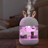 Fragrance Lamps USB Small Humidifier Aroma Diffuser Mini Cute Pet Desk Mute Household Fog Cartoon Colorful Lamp