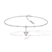 Messika classic 925 sterling silver triangle diamond pendant anklet simple fashion ladies exquisite jewelry