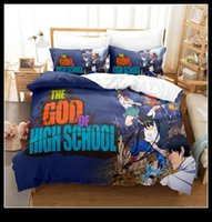 Bedding Sets The God Of High School Anime Cartoon Duvet Cover Soft Comforter 220x240 3pcs Kids Adults Bed Decoration Home