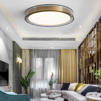 Post-modern copper restaurant light luxury ceiling lights Nordic minimalistic atmosphere master bedroom pendant lamps