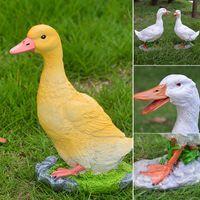 Pato Resina Jardim Estátua Super Bonito Escultura Ao Ar Livre Jarda Decoração Pond Ornamento Gramado GR5 Objetos Decorativos Figurines
