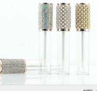 2021 4.5ml Plastic Diamond Round Lip gloss Tubes Clear Empty Lip Glaze Packing Bottle Lipgloss Lipstick Containers Concealer Bottles