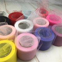 Party Decoration 22m 5cm Tulle Roll Organza Spool Fabric Ribbon DIY Tutu Skirt Gift Craft Chair Sash Baby Showe Wedding