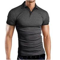 Men Tees Short Sleeve Polos Shirts Casual Slim Fit Basic Designed Cotton Shirt Fashion