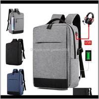 Storage Bags Multifunction Antitheft Laptop Notebook With Usb Charging Port Women Men Shoulders Bag Business Computer Backpack 3Colors 9Kt5X