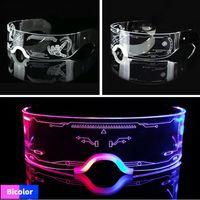Novelty Lighting LED Luminous Sunglasses Vintage Punk Goggles Men Women Fashion Party Christmas Colorful Light Up Glasses Shades