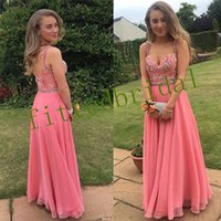 Spaghetti Strips A-Line Prom Dresses Lace Appliques Beaded Crystal Long Women Special Occasion Party Gowns Evening Dress Spring
