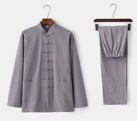 새로운 유니섹스 Wushu 의류 무술 가짜 쿵푸 슈트 남자 타이 치 유니폼 Taijiquan 의상 윙 Chun Performance Clothing163