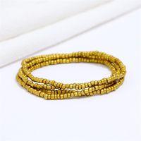 2 pz / set Boemia Doppio Strand Belly per le donne Elastic Body Jewelry Beads African Beads ACCESSORI A Catena Vita 26 W2
