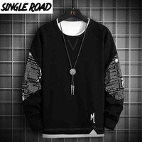 Hoodies Some Road Crewneck Spring Streetwear Black Men Male