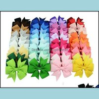 Aessories & Tools Products40 Colors Candy Cute Design Grosgrain Ribbon Bows Pin For Kids Girls Children Baby Barrettes Party Birthday Gift H