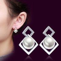 8mm /ピーススターリングシルバーイヤリングスタッド自然淡水真珠の宝石類のための宝石類のウェディングイヤリング女性記念日ギフト