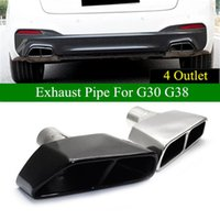 Motorcycle Exhaust System 2 PCS 4 Outlet Square Car Muffler Pipe For 5 Series G30 G38 525li 530 Stainless Steel Back Tip 2021