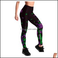Exercise Wear Athletic Outdoor Apparel Sports & Outdoorswomen High Waist Butterfly Printing Stretch Strey Fitness Yoga Pant Trousers Gym Tig
