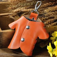 Keychains Genuine Leather Clothing Shape Key Organizer Bag Cute Casual Keychain Hasp Holder Case Colorful Pouch Cover Wallet