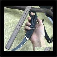 사냥 나이프 BM Karambit Matic Bird Claw D2 블레이드 알루미늄 핸들 더블 액션 야외 차가운 강철 캠핑 EDC 생존 나이프 C07 UT AA0T8