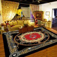 카펫 유럽 및 미국 스타일의 플로랄 패턴 영역 거실에 대 한 깔개 객실 침실 카페트 미끄럼 방지 해군 레드 블루 522
