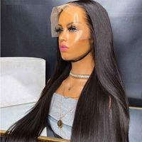 Spitzefront-Perücken Remy Haarperücken mit vorgepfteten Seidengrund-menschlichen Haarperücken für schwarze Frauen Brasilianische gerade Spitzeperücke