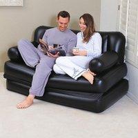 Pads all'aperto 2021 Protezione ambientale di alta qualità PVC nero multifunzionale doppio divano pieghevole letto pigro letto gonfiabile con pompa