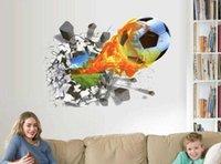 벽 스티커 50 * 70cm 축구 축구 공 필드 스티커에서 통해 TV 배경 침실 벽 데칼 소년 룸 장식 선물 Lugu