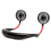 Portable Fan Hand Free Personal Mini USB Gadgets Rechargeable 360 Degree Adjustment Head Hanging Neck Fans for Travel Outdoor
