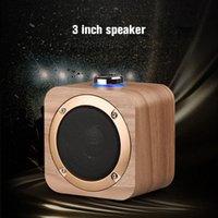 Q1B المتكلم المحمولة خشبية بلوتوث 4.2 لاسلكي باس مضخم الصوت المتكلم مشغل الموسيقى المدمج في بطارية 1200 مللي أمبير