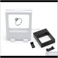 Packaging & Jewelry Drop Delivery 2021 Black White Suspended Floating Display Cases Box Jewellery Coins Gems Artefacts Stand Holder Fashion U