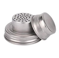304 Stainless Steel Mason Jar Lid Silicone Sealing Plug 70mm Caliber Shaker Lids Rust Proof Drinkware Cover SN2308