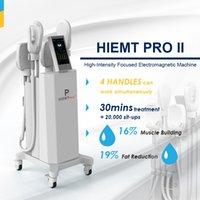 Vertical Intensity Focused Body Shape EMSlim Slimming Machine High Efficiency 4 Handles Fat Burning Reduction Device