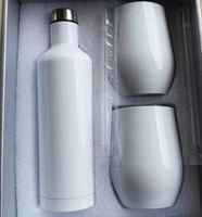 US-Lager 12-30OZ-Sublimations-gerades Tumbler mit Strohwein-Tumbler-Leerzeichen doppelwand Edelstahl-Kinder-Sippy-Becher Wasserflasche-Vakuum-isoliertes Becher