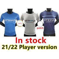 Player Version Manchester soccer jerseys 21 22 MAN GREALISH CITY STERLING FERRAN DE BRUYNE FODEN 2021 2022 football shirts men sets kit uniforms