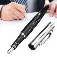 حساسة Fuliwen 809 نمط الرخام نافورة القلم الغواصة 0.5 ملليمتر إيريديوم غرامة نبذ ناعم الكتابة مع مربع أقلام التعبئة