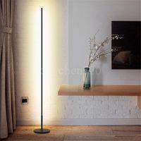 북유럽 미니멀리스트 LED 플로어 램프 거실 검정 / 화이트 알루미늄 luminaria 서 램프 램프라라 장식