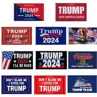 Trump 2024 No me culpes He votado por Donald Trump Flags 3x5 FT Las reglas han cambiado la bandera con los ojales Patriotic Elección Decoración Banner DHL envío rápido