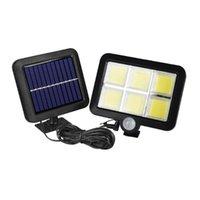 Lampada da parete del sensore di movimento solare 56led 5.5v 1w all'aperto impermeabile lampada da giardino a risparmio energetico per decorazioni