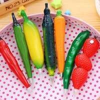 Vegetable Fruit Ballpoint Pens Creative Gel Pen Cartoon Ballpoint Pen Fruit And Vegetable Shape Ballpoint Pens 16 Style GWF8840