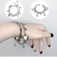 Chain Link Heart Bracelets & Bangles Simple Bracelet Stainless Steel Jewelry For Women Gift Charm